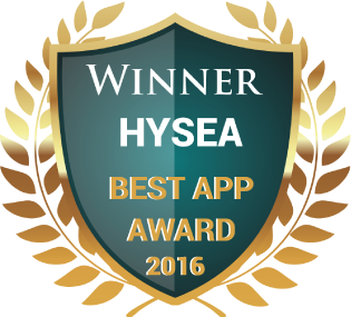 Best App Award - 2016 presented by HYSEA